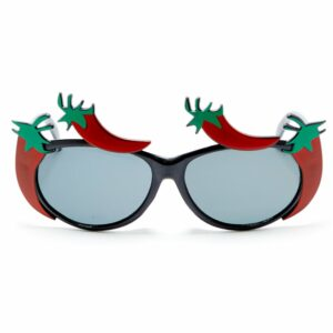 Red Chilli Pepper Novelty Glasses